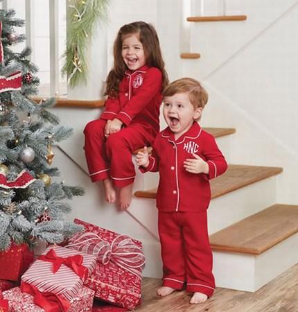 Boys and Girls Christmas Pajama Photoshoot, Kids Christmas Pajamas