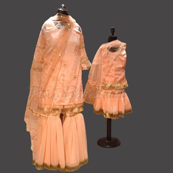 Indian Wedding Designer Mom and Daughter Matching Dress